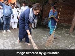 Watch: Priyanka Gandhi Vadra Picks Up Broom Again After Yogi Adityanath's Dig