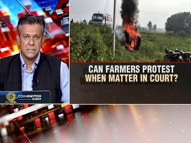 Video : Can Farmers Protest When Matter Being Heard By Court?