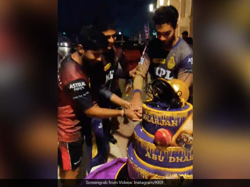 Watch: Kolkata Knight Riders Players Celebrate Reaching IPL 2021 Final With A Huge Cake
