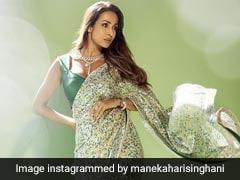 Malaika Arora Dazzles In A Rs 1.35 Lakh Sequinned Manish Malhotra <i>Saree</i>