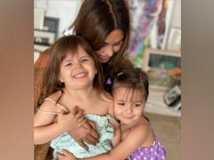 """Lisa Ray's """"Morning Shenanigans In Mumbai"""" With Daughters Sufi And Soleil"""