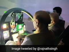 """Amazing"": Rajnath Singh After Experiencing Tejas LCA Flight Simulator"