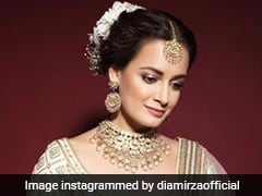 Dia Mirza Is As Resplendent As Can Be In A Gorgeous White <i>Lehenga</i>