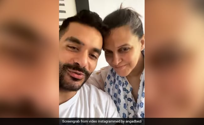Neha Dhupia And Angad Bedi, Dealing With Parenthood, Share Glimpse Of Their Baby Boy