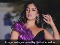Bhumi Pednekar Is An Ultra Chic Diva In Her Futuristic Ultraviolet Gown