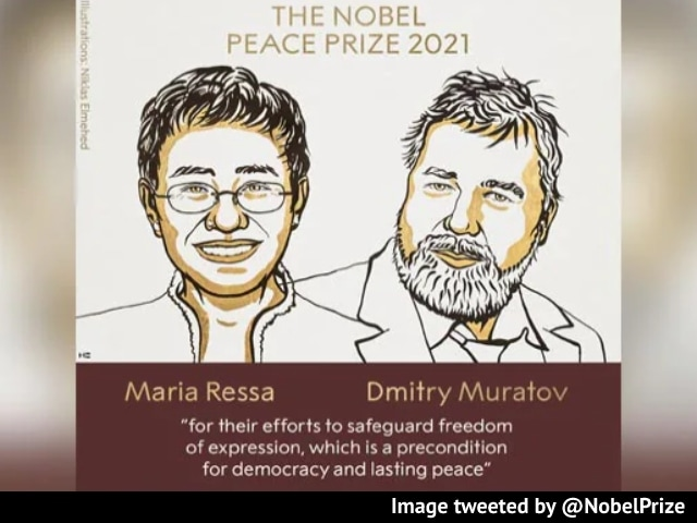 Video : Nobel Peace Prize Awarded To Journalists Maria Ressa, Dmitry Muratov