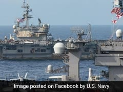 US' Nuclear-Powered Aircraft Carrier Carl Vinson In Malabar Exercise