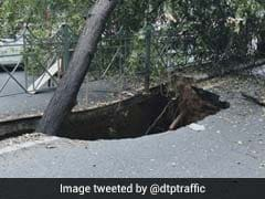 Delhi Traffic Police Issues Advisory After Road Caves In In West Delhi