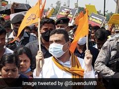BJP's Suvendu Adhikari Takes Part In Bengal Rally Against Bangladesh Violence