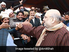 """Amit Shah Removes Bulletproof Shield In Srinagar: """"Want To Speak Frankly"""""""