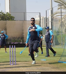 Dhoni Gives Throwdowns To Batters As India Prepare For Pak Game. See Pics