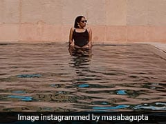 Masaba Gupta Makes Rajasthan Even Hotter In A Stunning Black Swimsuit