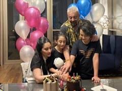 How Sanjay Dutt And Maanayata Celebrated Twins Shahraan And Iqra's Birthday