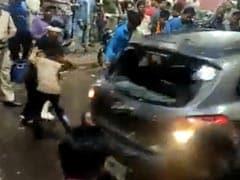 Video: Speeding Car Drives Into Crowd Amid Durga Puja <i>Visarjan</i> In Bhopal