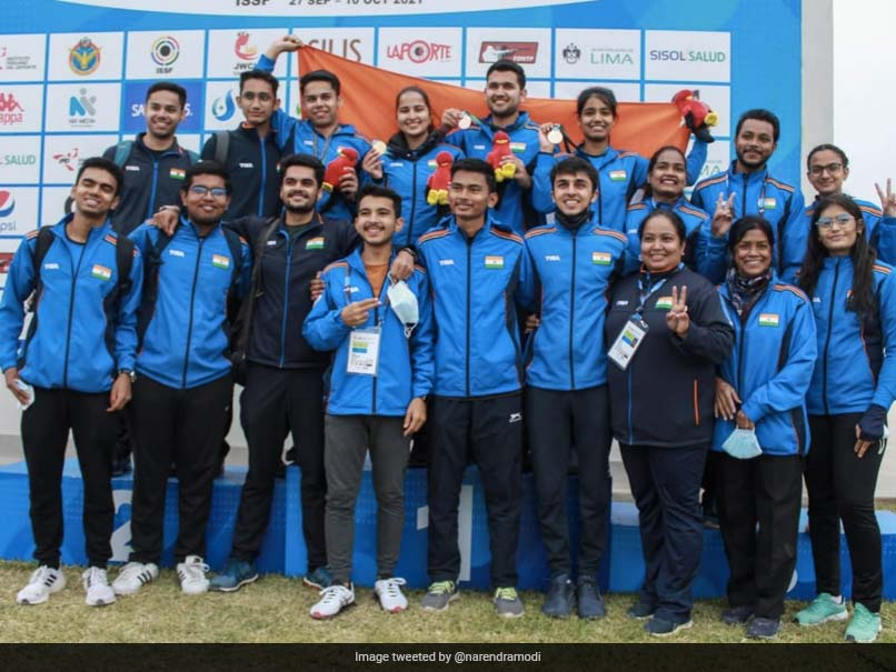 """Prime Minister Narendra Modi has congratulated the shooters """"Excellent"""" Medal at the ISSF Junior World Championships"""