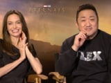 Video : Angelina Jolie Interview: Here's What Her Kids Said About Her New Movie <i>Eternals</i>