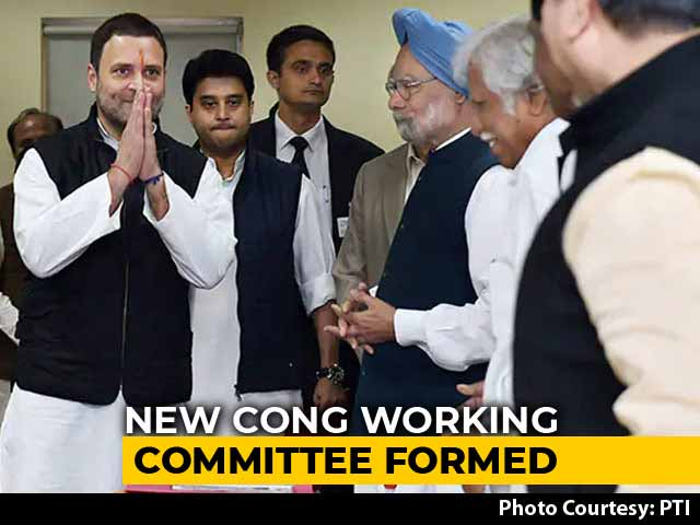 Video : Rahul Gandhi Constitutes Congress Working Committee, New Faces Brought In