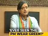 "Video : Shashi Tharoor's ""Outlandish Headgear"" Comment For PM Modi Draws BJP Fury"
