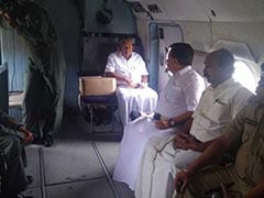 Kerala Chief Minister Takes Aerial Survey Of Flood-Hit Districts
