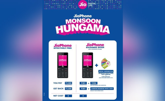 a5b137d0b (Reliance Jio monsoon offer  Customers will get a new Jio SIM with the  JioPhone)