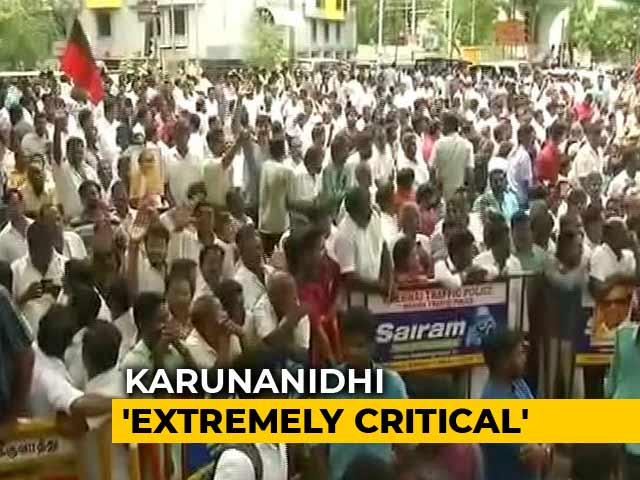 """Video : Karunanidhi """"Extremely Critical And Unstable,"""" Says Chennai Hospital"""