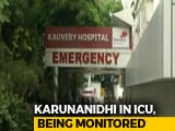 Video : DMK Chief M Karunanidhi Hospitalised After Days Of Treatment At Home
