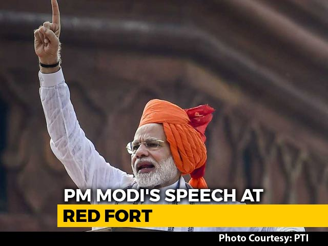 Video : In Independence Day Speech, PM Modi's Big Health And Space Missions