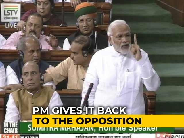 Video : PM Modi's Point-By-Point Rebuttal To Rahul Gandhi's Speech In Parliament
