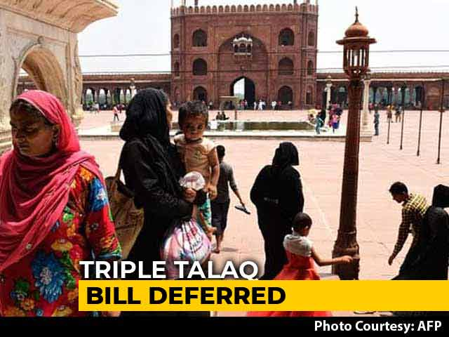 Video : Triple <i>Talaq</i> Bill Deferred To Next Session Of Parliament