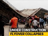 Video : Under-Construction Flyover Collapses On UP Highway, Labourer Injured