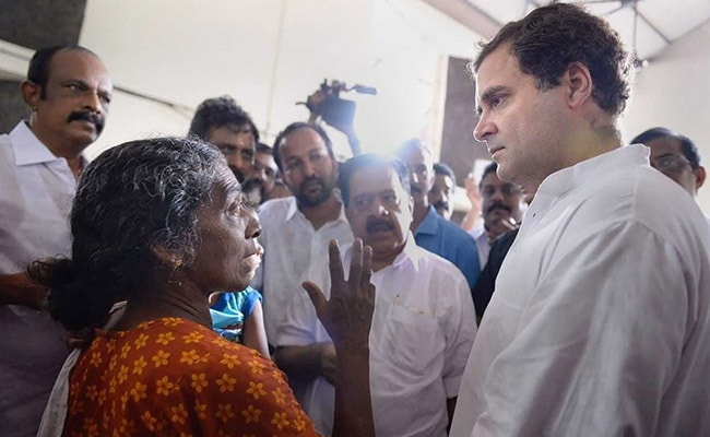 Rahul Gandhi In Kerala Live Updates: Congress Chief Visits Flood Relief Camps