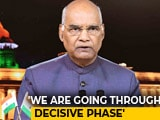 "Video : ""Don't Let Contentious Issues Distract Us"", President Kovind Tells Nation"