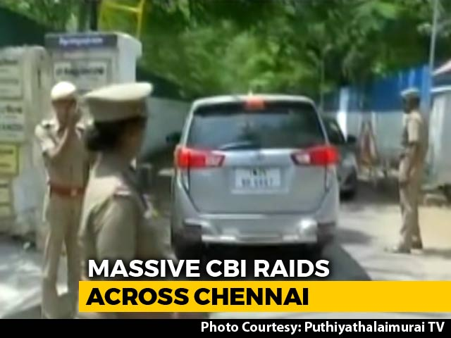 Video : Tamil Nadu Minister, Top Cop Raided In Chennai In Gutka Scam