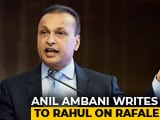 "Video : ""Misinformed, Misdirected"": Anil Ambani Writes To Rahul Gandhi On Rafale"