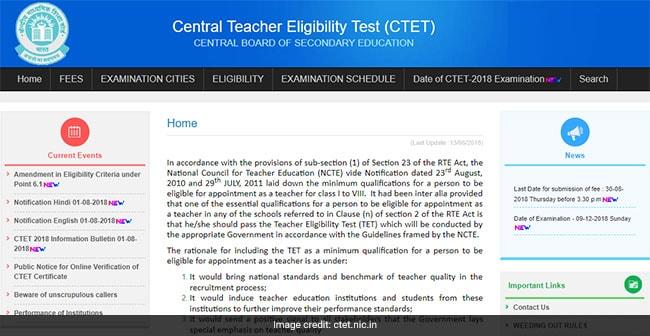 CTET 2018 Exam: 9 दिसंबर को होगी सीटीईटी परीक्षा, इस दिन तक भर सकेंगे आवेदन फीस