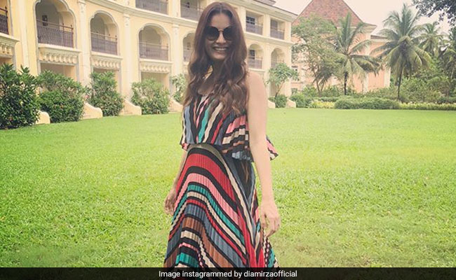 Dia Mirza Rocks Multiple Summer Trends In This Dress