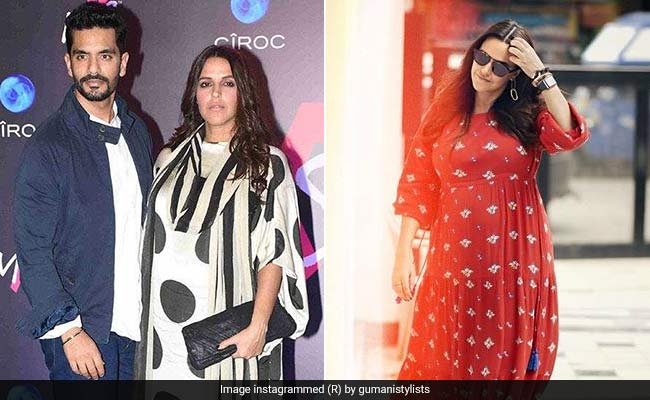 f94da32faf92a Neha Dhupia Adds Some Bold Prints To Maternity Fashion