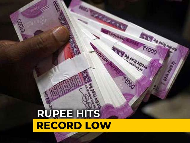 Video : Rupee Collapses To Lifetime Low