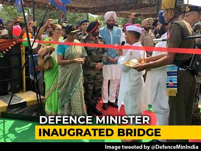 Video : Defence Minister Inaugurates Hussainiwala Bridge Blown Up During 1971 War