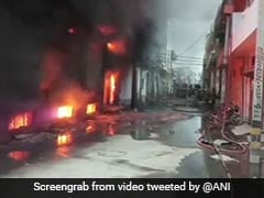 Fire Breaks Out At Two-Storey Plastic Bag Factory In Delhi