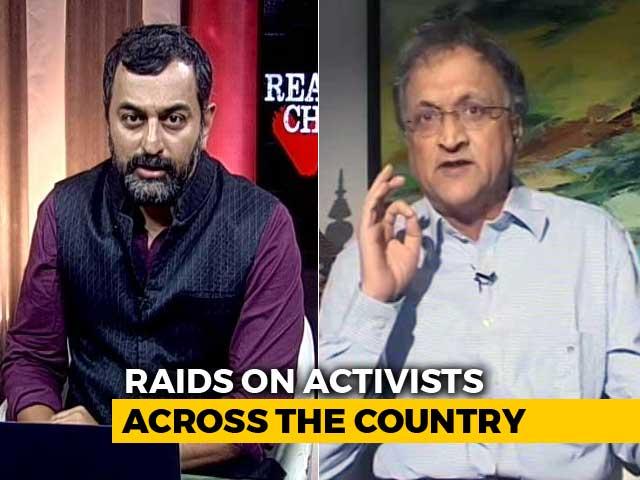 "Video : On Raids On Activists, Ramachandra Guha Blames ""Corporate Cronies Of Government"""