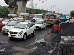 Potholes Lead To 2-Km-Long Jam On Highway In Mumbai Suburbs