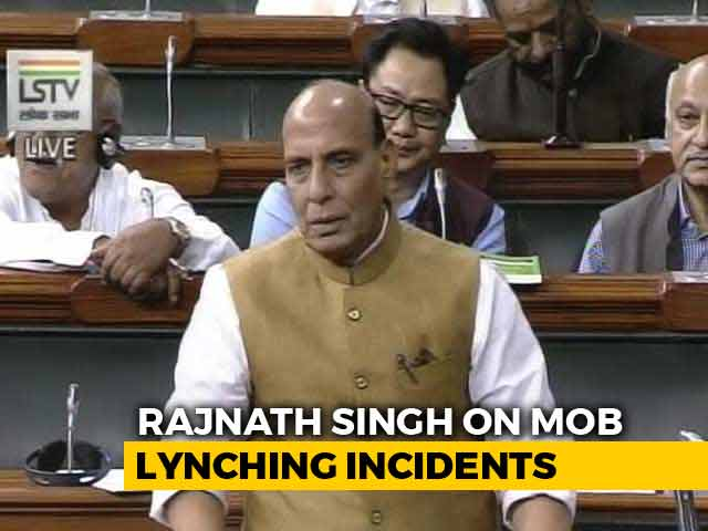 """Video : """"Biggest Incident Of Mob Lynching Happened In 1984,"""" Says Rajnath Singh"""