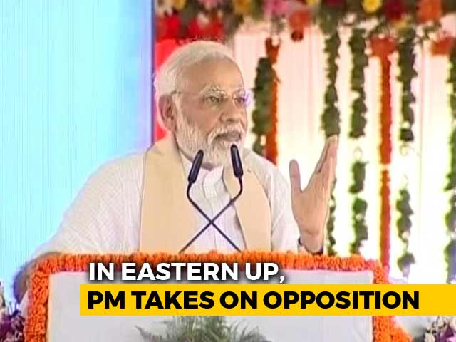 "Video : PM Modi Attacks Opposition In Mirzapur, Says ""Crocodile Tears"" For Poor"