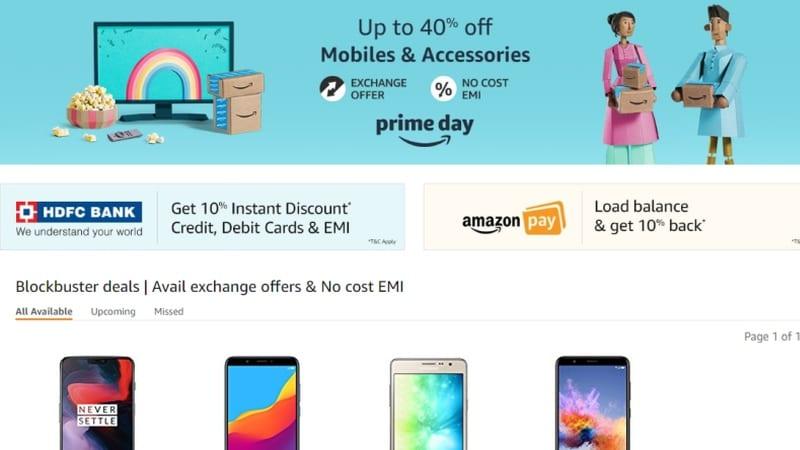 Amazon Prime Day सेल शुरू, इन स्मार्टफोन पर मिल रही है छूट