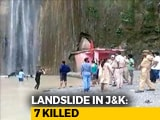 Video : 7 Killed As Boulder Rolls Down Waterfall In Jammu And Kashmir