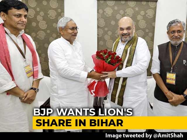Video : BJP Floats Bihar Seat-Share Math, Gets 'F' From Nitish Kumar's Party