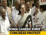 Video : Sonia Gandhi Leads Opposition Protest Over Rafale Deal Outside Parliament