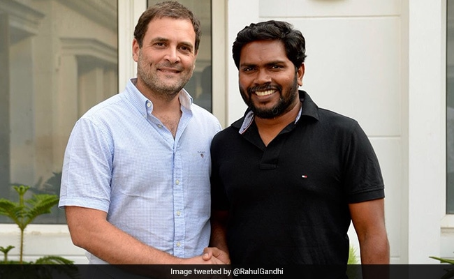 Rahul Gandhi Meets Tamil Cinema's PA Ranjith and Kalaiyarasan
