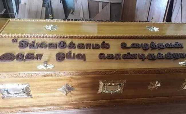Karunanidhi Dictated The Line On His Casket To Son Stalin 3 Decades Ago